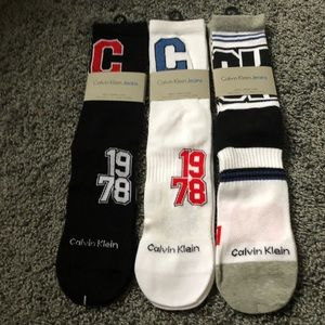 (3) Calvin Klein Men's Cotton Crew Socks Size 7-12
